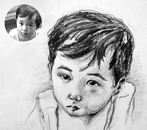 Obra por encargo -Niño pintado