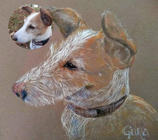 Obra por encargo - Perro Dibujado